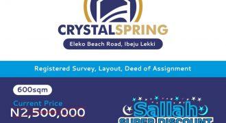 Plots Of Land For Sale Instalmentally-Crystal Spring Estate Eleko Junction