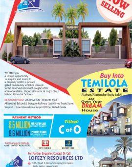Plots of Land For Sale At Temilola Estate Alatishe By Eleko
